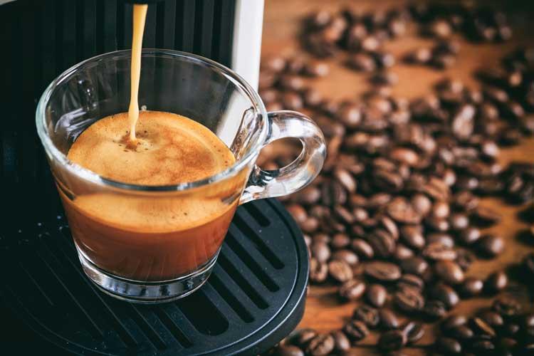Espresso being brewed
