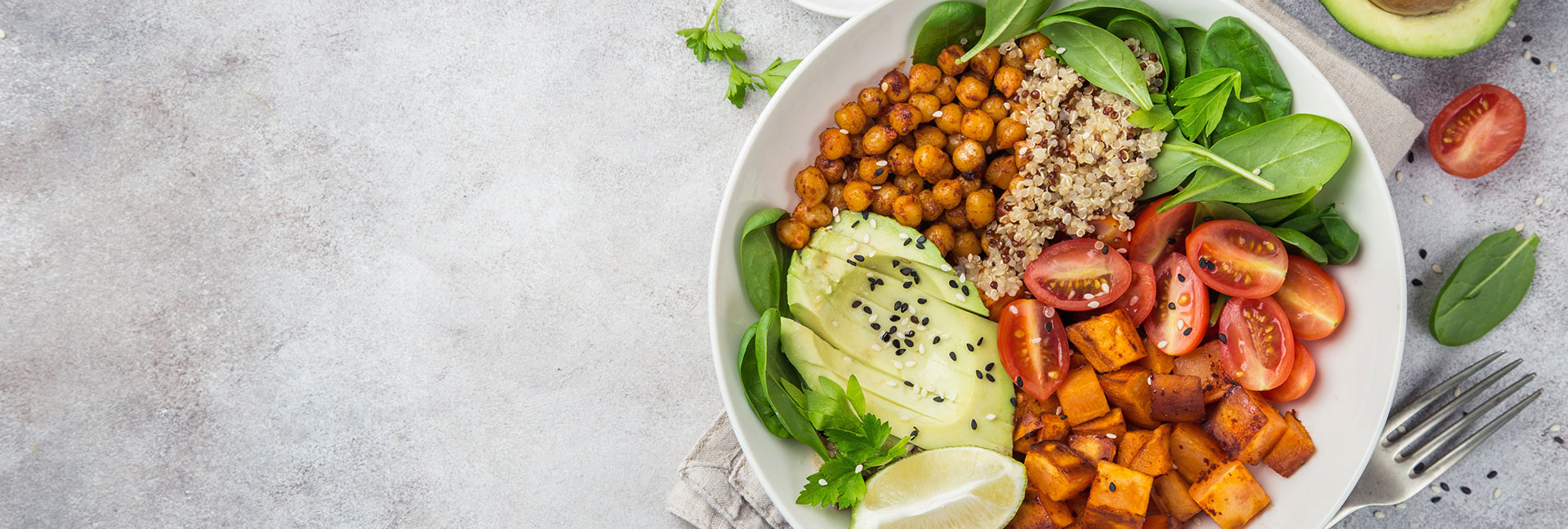 A bowl of vegetarian food