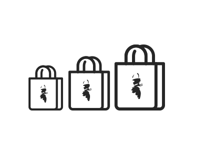 small, medium and large redapron bags